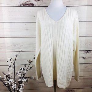 Sweater cream soft ribbed